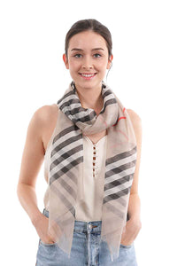 Stylish Chiffon Modern Stripe Scarf