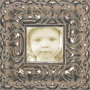 Baroque Wide Silver Ornate Museum Photo Frame