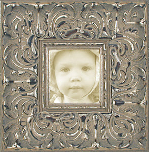 Baroque Wide Antique Silver Museum Ornate Photo Frame