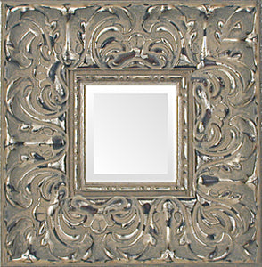 Baroque Wide Antique Silver Museum Ornate Mirror