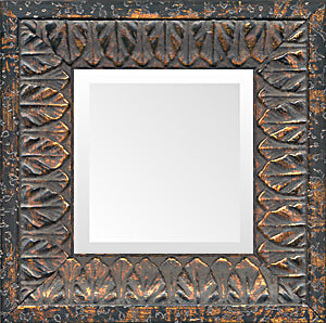 Black Gold Leaves Small Ornate Mirror