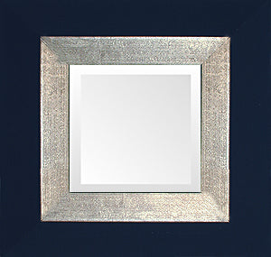 Black Silver Small Contemporary Mirror