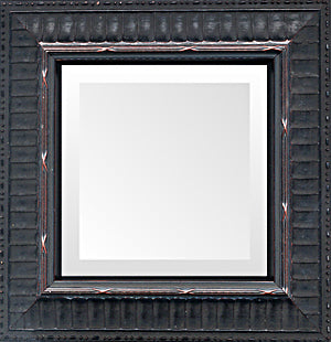 Black Stripe Traditional Small Mirrors