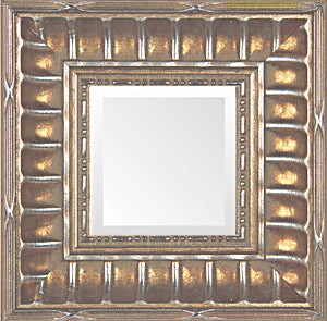 Classic Silver Stripe Traditional Mirror