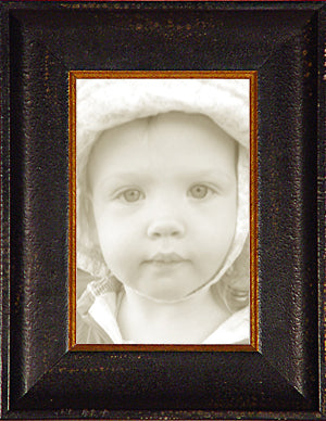 Distressed Black Gold Italian Picture Frame