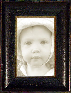 Distressed Black Silver Italian Picture Frame