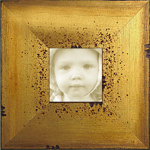 Distressed Tuscan  Wide Picture Frame