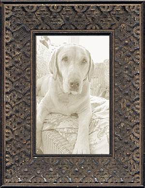 Black Distressed Ethnic African Decorative Picture Frame