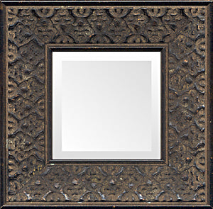 Ethnic African Black Distressed Small Decorative Mirror