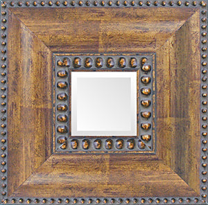 Large Bronze Bead Tuscan Mirror