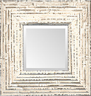 Shabby Chic Distressed Cottage Mirror Made in USA