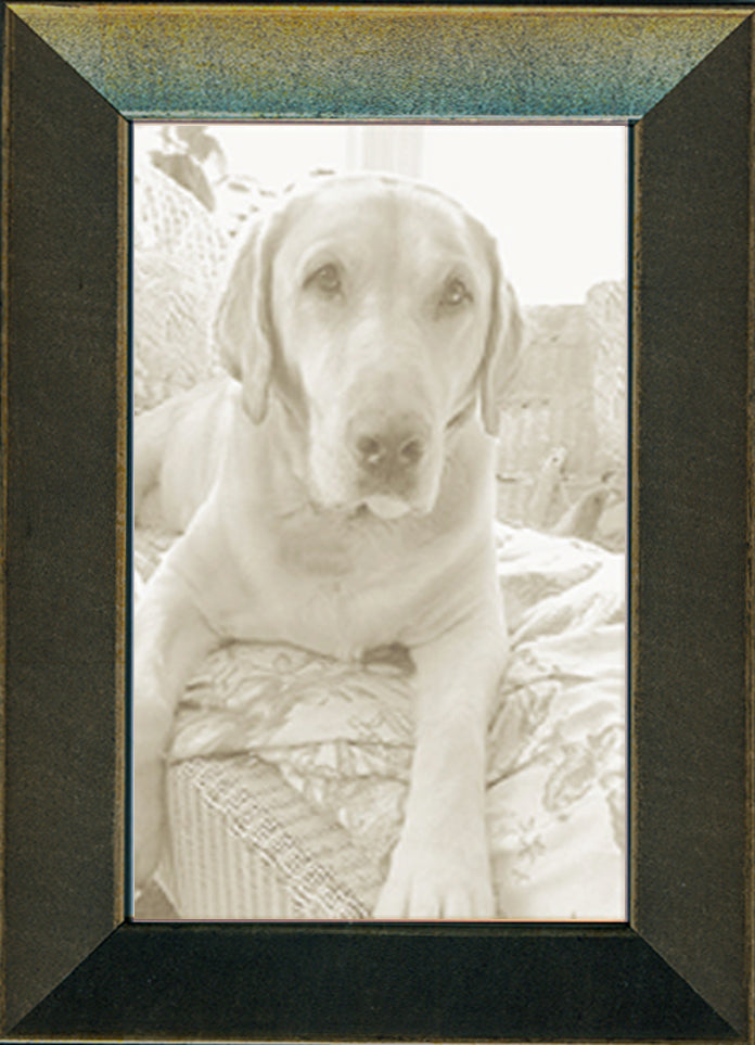 Thin Soft Charcoal Picture Frame