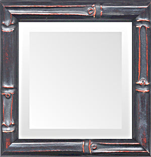 Thin Black Bamboo Traditional Small Mirrors