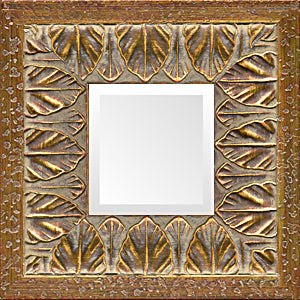 Vintage Gold Leaves Decorative Mirror