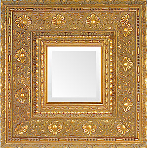 Wide Gold Museum Ornate Mirror