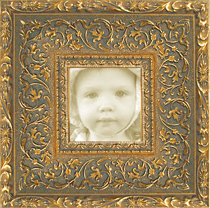 Antique Gold Ornate Museum Photo Frame