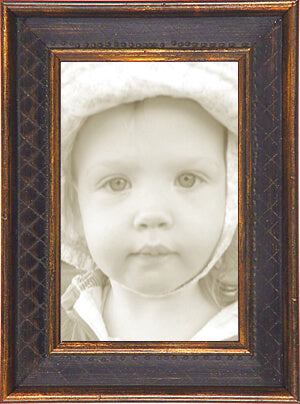 Black Gold Diamond Traditional Picture Frame