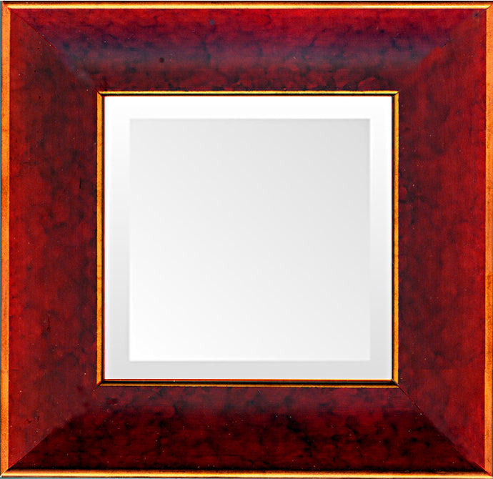 Deep Red Elegant Traditional Mirror
