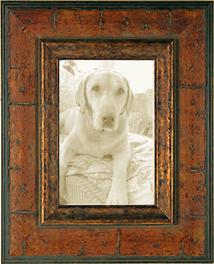 Distressed Honey Burl Picture Frame