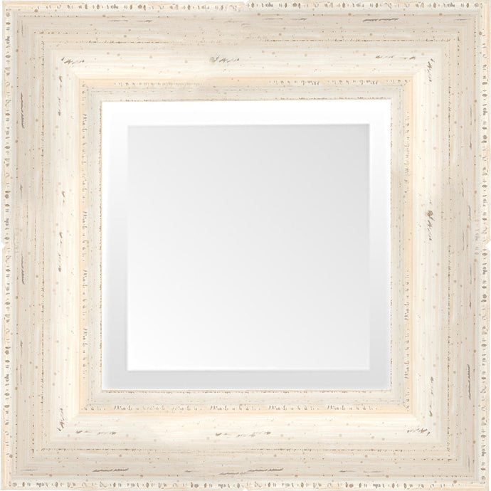 Distressed White Chalk Paint Small Mirror
