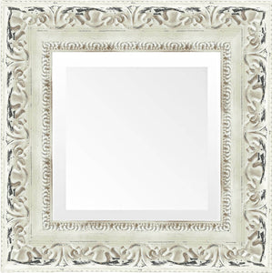 french country white distressed mirror