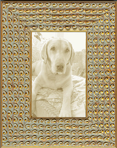 Funky Gold Circles Decorative Picture Frame