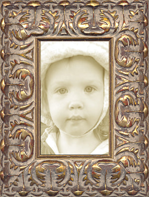 Gold Leaf Ornate Picture Frame Made in USA