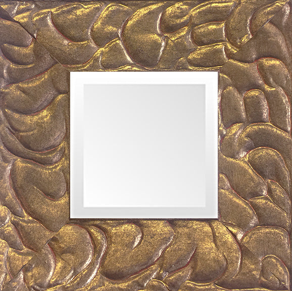Gold Leaf  Small Decorative Mirror