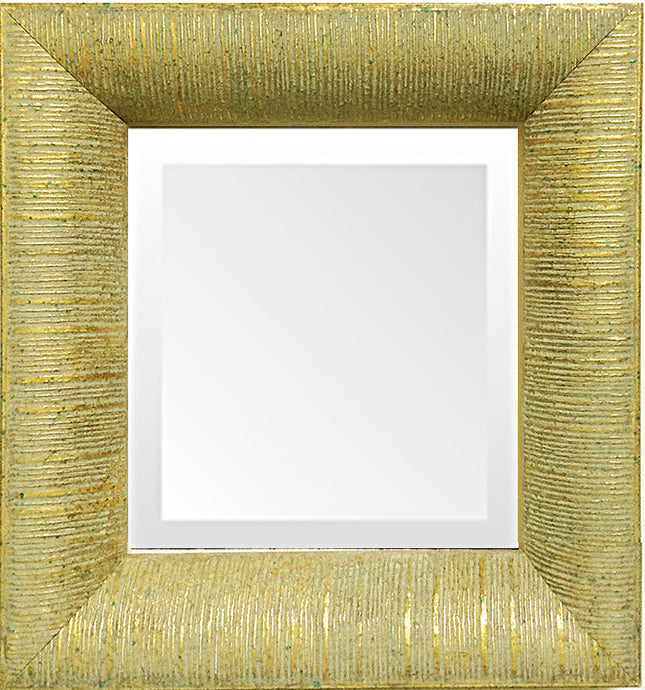 Gold Leaf Ribbed Decorative Contemporary Mirror