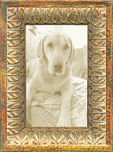 Gold Leaves Ornate Picture Frames Made in USA