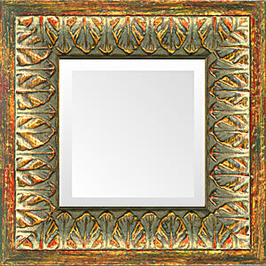 Gold Leaves Small Decorative Mirror
