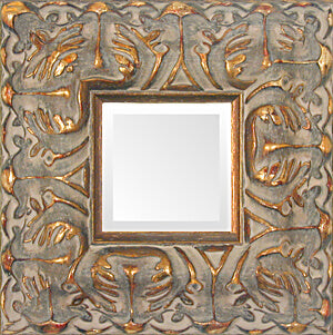 Large Baroque Gold Ornate Museum Mirror