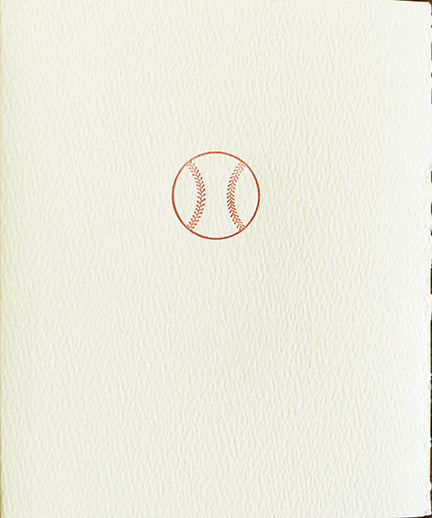 letterpress whimsical blank notes baseball