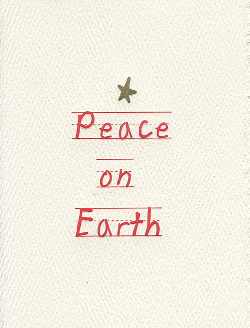 peace on earth letterpress holiday cards
