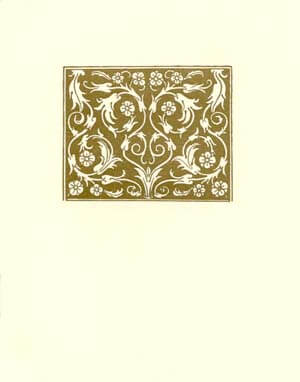 letterpress elegant blank notes gold medallion