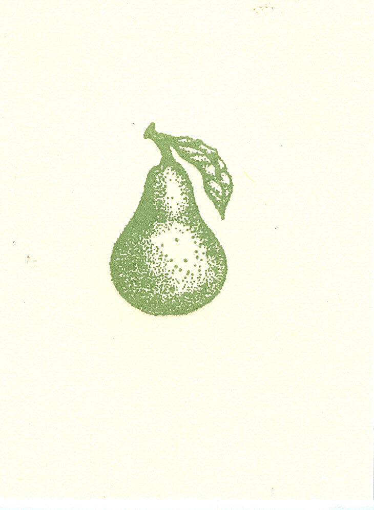 letterpress gift enclosures green pear