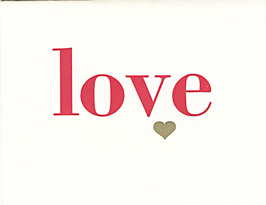 letterpress valentine's day card love