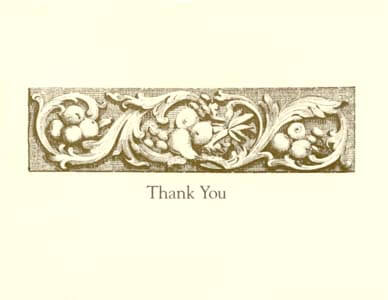 letterpress elegant thank you note gold harvest