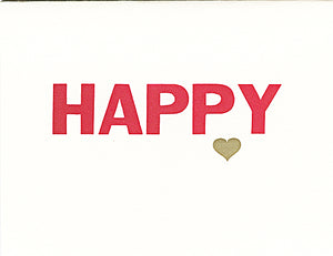 letterpress valentine's day card happy (day)