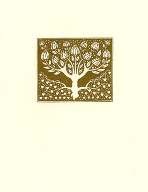 letterpress wedding cards elegant tree