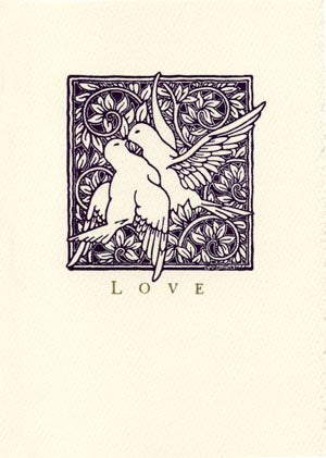 letterpress wedding cards lovebirds