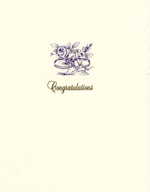 letterpress wedding cards rings