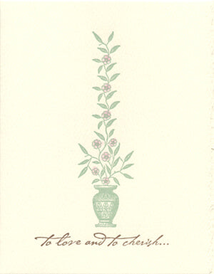 letterpress wedding cards to love and cherish