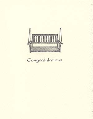letterpress anniversary cards porch swing