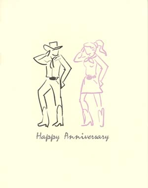letterpress anniversary cards western dancing
