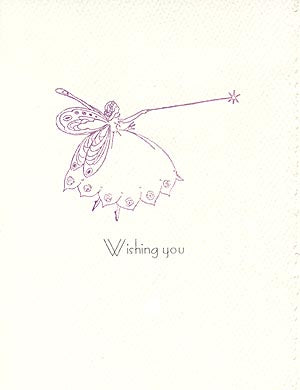 letterpress birthday card fairy godmother