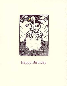 letterpress birthday card mother goose
