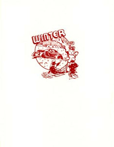 retro winter scene letterpress holiday cards