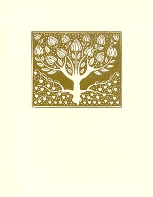 letterpress elegant blank notes gold tree