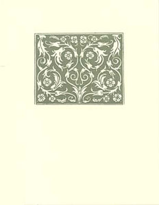 letterpress elegant blank notes sage medallion